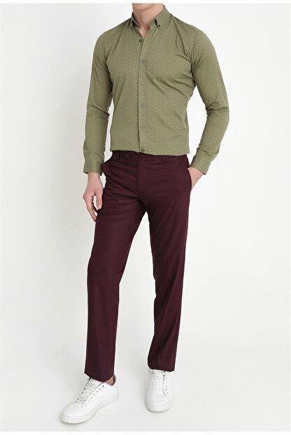 Efor P 888 Slim Fit Bordo Klasik Pantolon