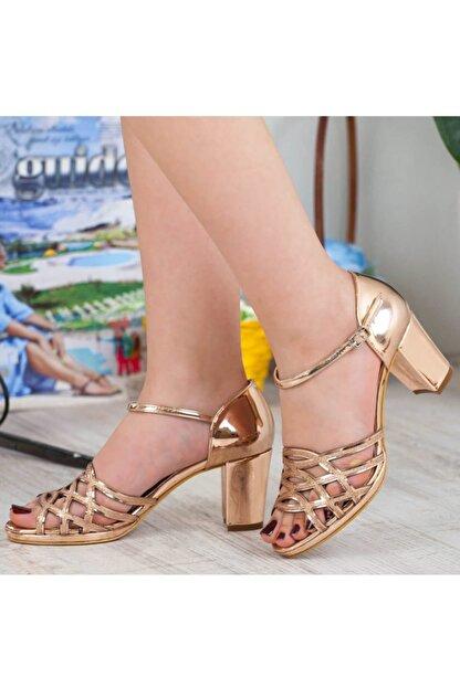 Adım Adım Bakır Yüksek Topuk Abiye Kadın Ayakkabı • A182ysml0019