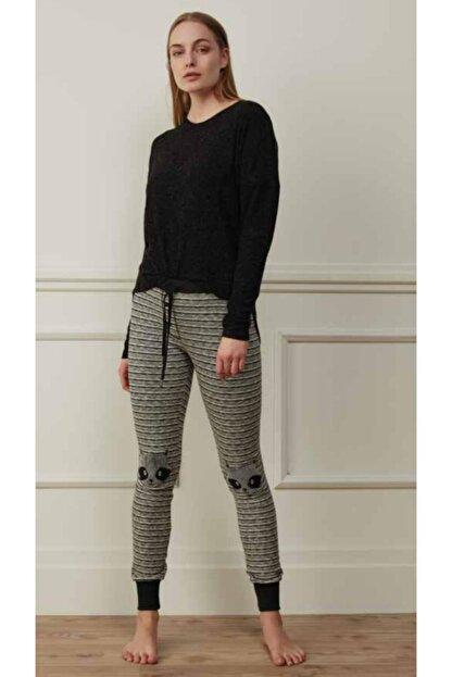 Feyza 3501 Kadın Pijama Takımı Siyah