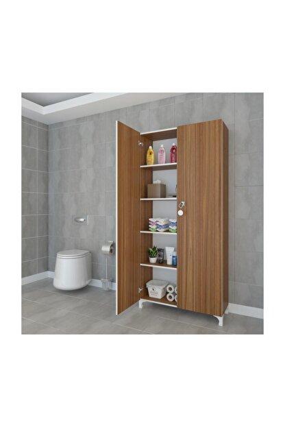 Kenzlife Mutfak Dolabı Çilem 188*090*032 Cvz Kilitli Ayaklı Banyo Evrak Ofis Kitaplık Ayakkabılık Kiler