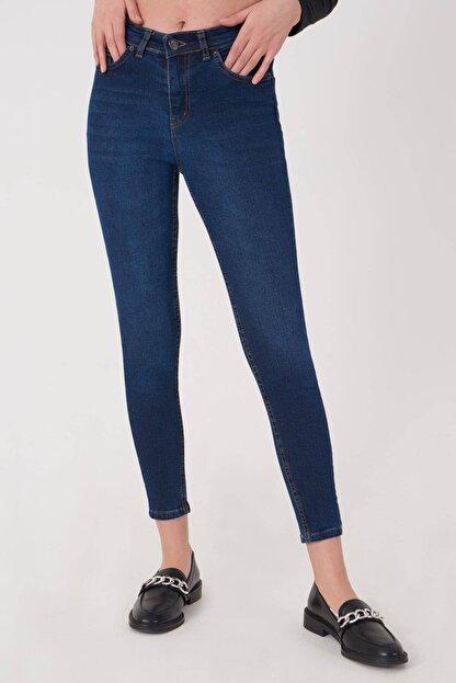 Addax Kadın Koyu Kot Rengi Cep Detaylı Jean Pantolon Pn12181 - Pnj ADX-0000023379
