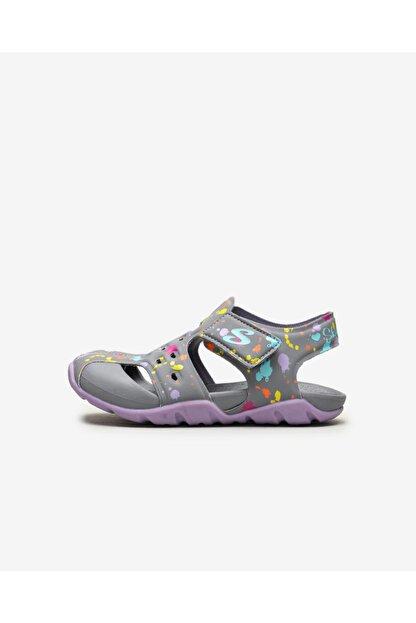 Skechers SIDE WAVE - Küçük Kız Çocuk Gri Sandalet