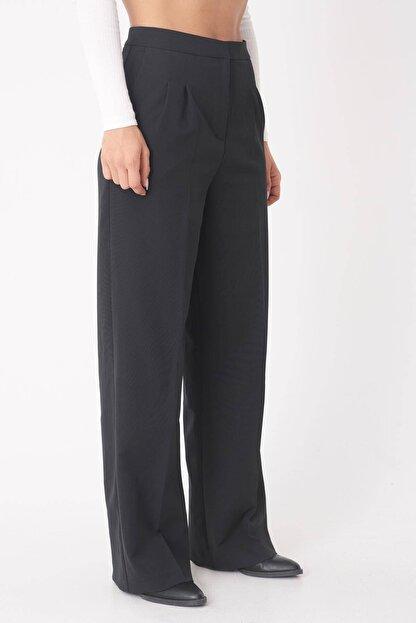 Addax Kadın Siyah Cep Detaylı Bol Pantolon Pn8058 - E8 ADX-0000023058