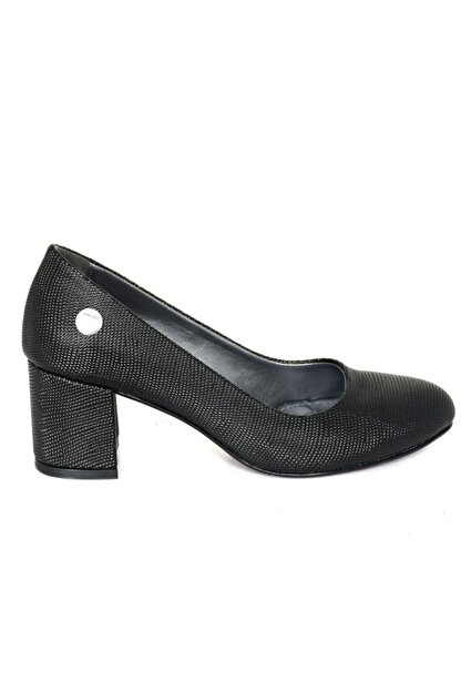 Mammamia 3850 Siyah Nokta Klasik Cilt Ayakkabı