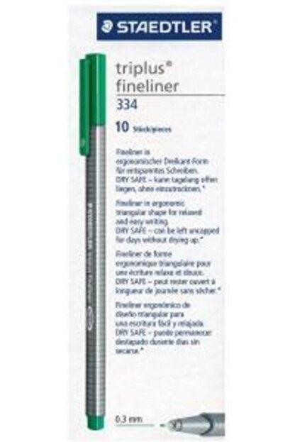 Staedtler Fineliner Triplus Keçe Uç Kalem 0.3 Mm Yeşil Z-s 334-5 10 Lu (1 Paket 10 Adet)