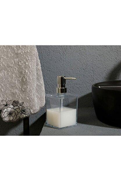 English Home Adela Akrilik Banyo Sıvı Sabunluk 7,5x7,5x11 Şeffaf