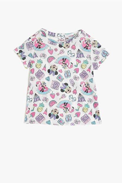 Koton Kız Çocuk Minnie By Gri T-shirt