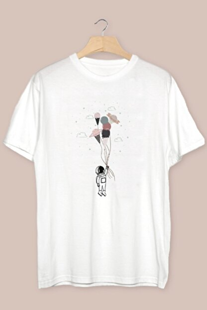TÜşört Uzay Balonları - Balon Tasarımlı T-shirt