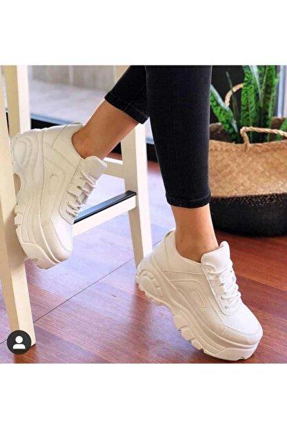 Kozzam Kz-7738 Yüksek Topuk Kadın Spor Ayakkabı