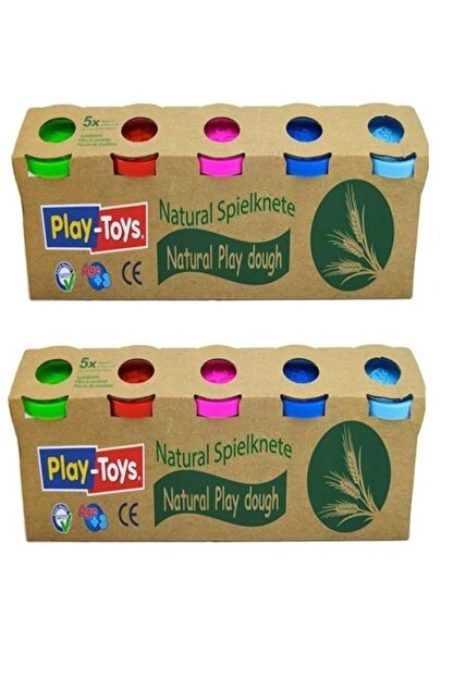 Smartfox Playtoys Natural Doğal 5'li Oyun Hamuru-iki Adt 10x100 gr Natürel