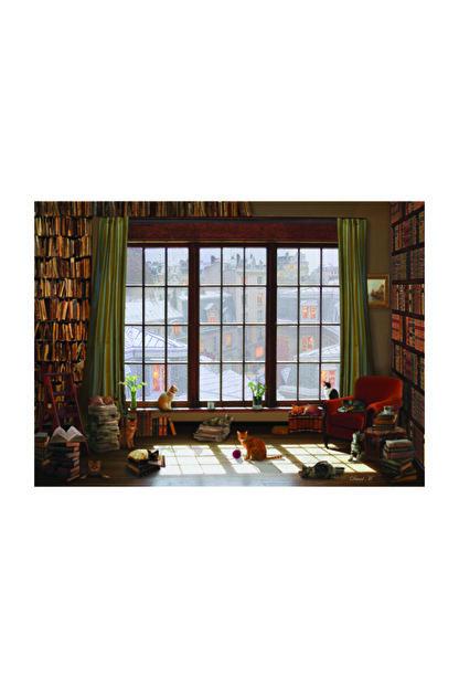Anatolian Puzzle Pencere Kedileri 1000 Parça Puzzle