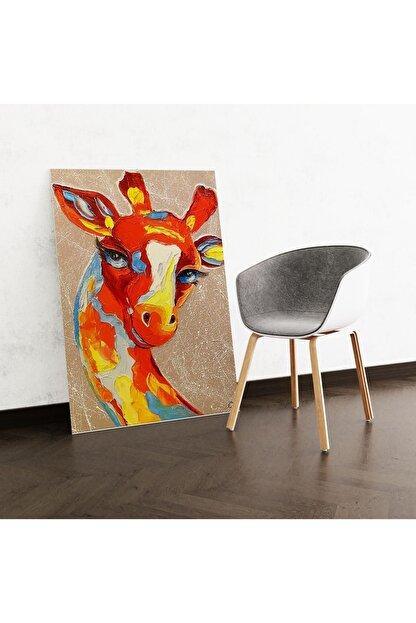 Dekoliya Yağlı Boya Zürafa Tablosu 50x70 Cm