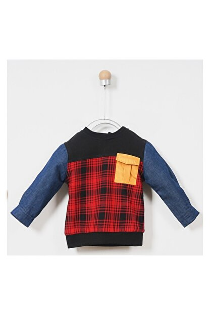 Panço Sweatshirt Erkek Bebek Siyah