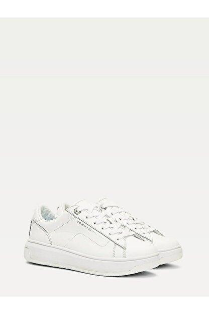 Tommy Hilfiger Kadın Th Cupsole Deri Sneaker