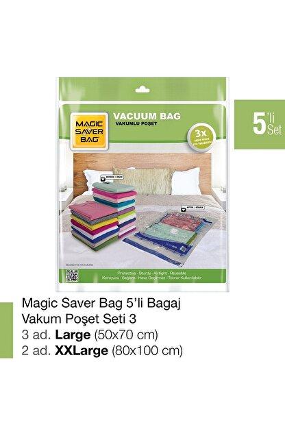 Magic Saver Bag 5´li Bagaj Vakumlu Poşet Seti 3