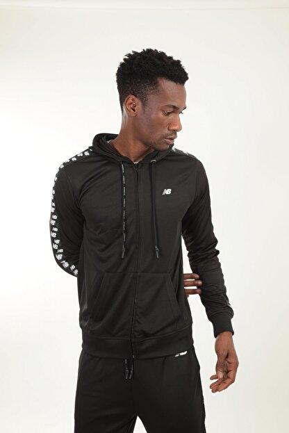 New Balance Erkek Siyah Kapüşonlu Sweatshirt Mpj007-bk