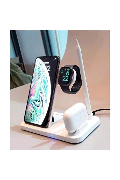 MARSTEC 4 In 1 Kablosuz Hızlı Şarj Istasyonu Standı Iphone Samsung