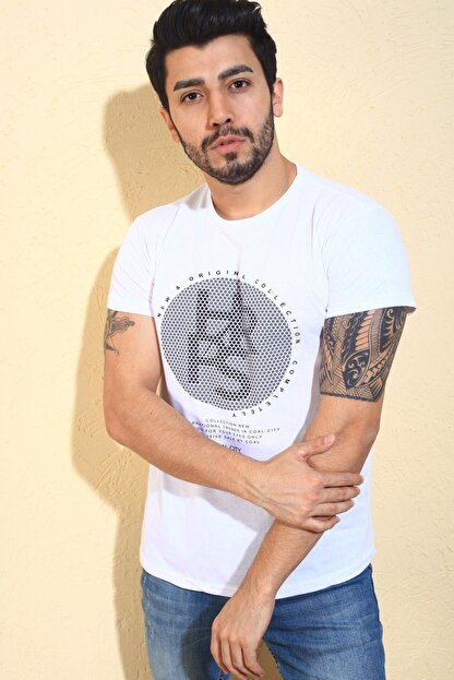 Oksit Cool City Hr Extra Slim Fit Likralı Bisiklet Yaka Erkek Tshirt