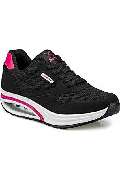 Kinetix Aneta Tx W Siyah Kadın Kalın Taban Sneaker Spor Ayakkabı