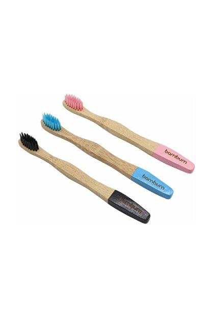 Bambum Salute - Bambu Diş Fırçası Çocuk 3lü Set