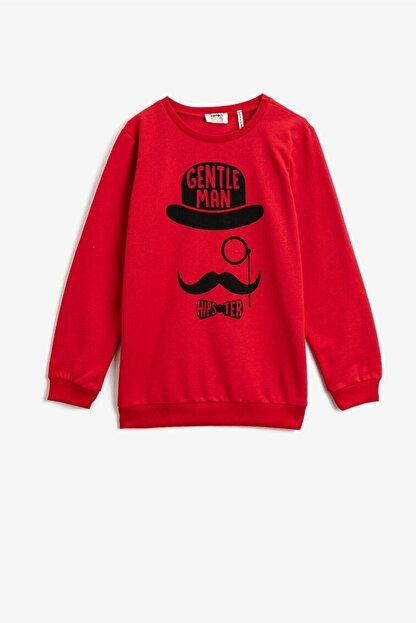 Koton Erkek Çocuk Baskılı Kırmızı Sweatshirt 1kkb16503tk