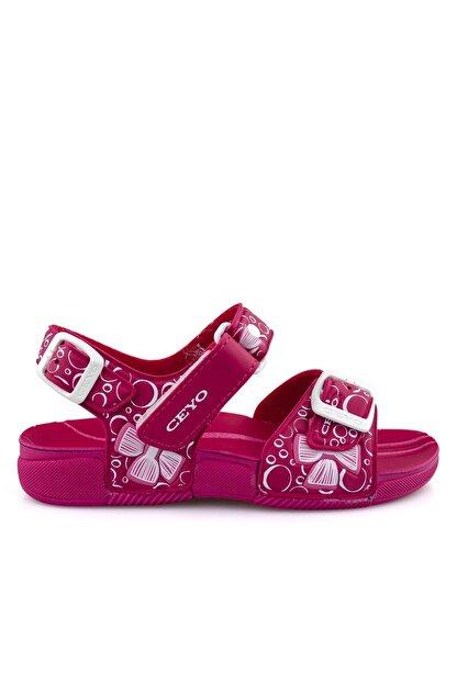 Ceyo Fuşya E Ortopedik Kız Çocuk Sandalet