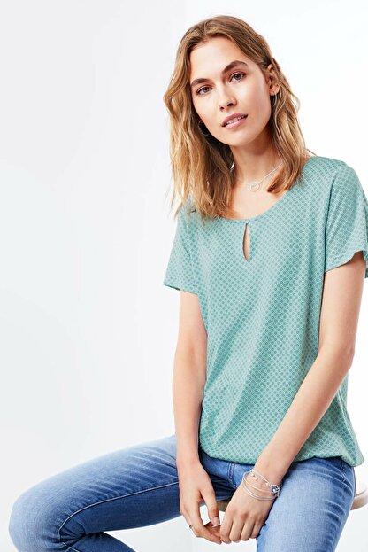 Tchibo Organik Pamuklu Bluz Su Yeşili