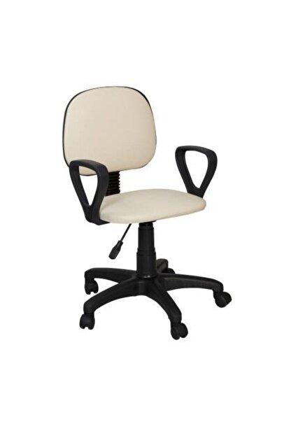 Boss Concept Döner Tekerlekli Krem Sandalye Ofis Çalışma Koltuğu