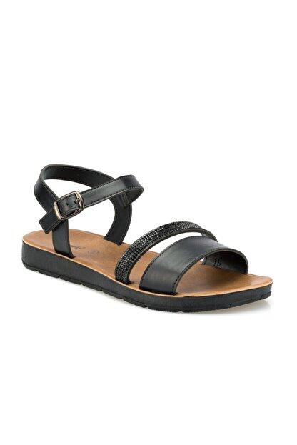 Polaris 315642.z Siyah Kadın Sandalet
