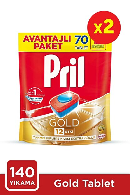 Pril Gold 70 Tablet Doypack *2'liset
