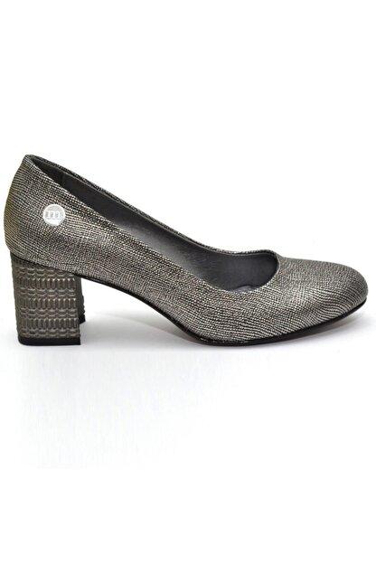 Mammamia Kadın   Platin Kare Topuk  Ayakkabı