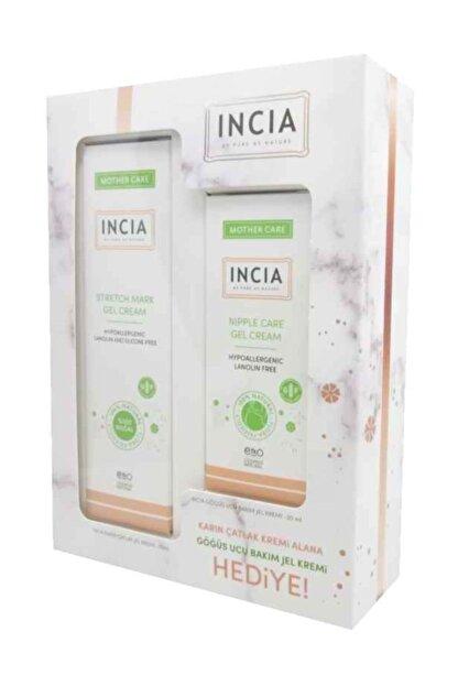 INCIA Stretch Mark Gel Cream 75ml + Nipple Care Gel Cream 30ml Set