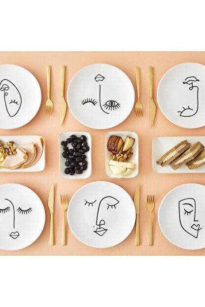 Bella Maison Face Seramik Pasta Tabağı 6′lı (20 Cm)