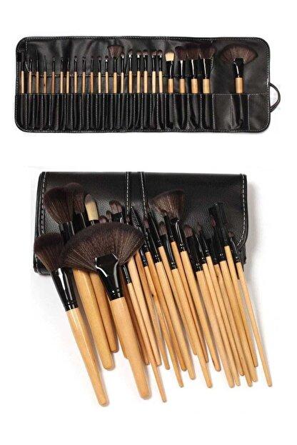 Gold Beauty Bambu Siyah Makyaj Fırça Seti - Profesyonel Çantalı 24 Parça 2170004102036