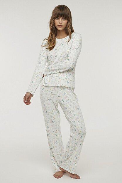 Penti Çok Renkli Gardener Termal Pijama Takımı