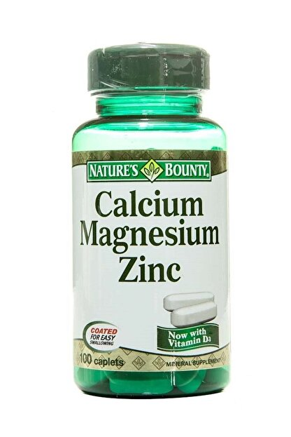 Natures Bounty Calcium Magnezium Zinc 100 Tablet 074312042904