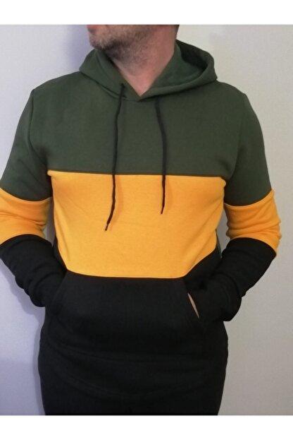 URBA GİYİM Üç Renk Kapüşonlu Sweatshirt