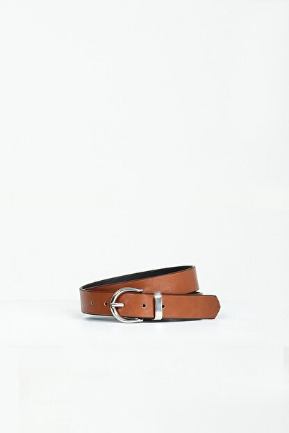 Collezione Taba Oval Metal Tokalı Kadın Kemer