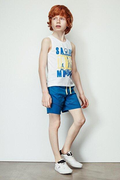 Nebbati Erkek Çocuk Mavi Şort 19ss2nb3147