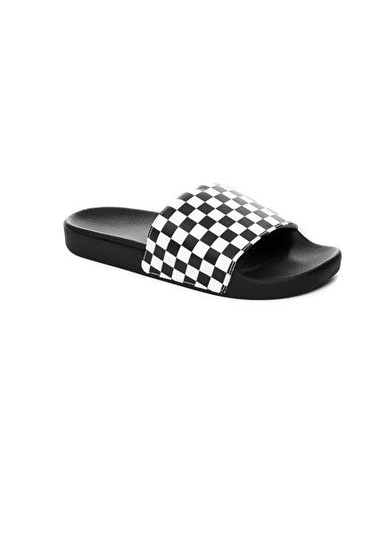 Vans Beyaz Erkek Terlik V4kııp9 Slıde-on (Checkerboard) Whıte