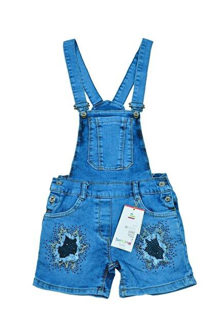 Sercino Kız Çocuk Salopet Tulum Jean
