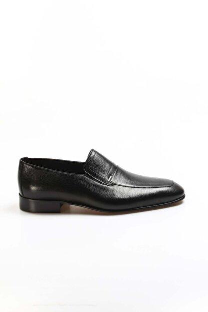 Fast Step Hakiki Deri Siyah Erkek Klasik Ayakkabı 910ma2301