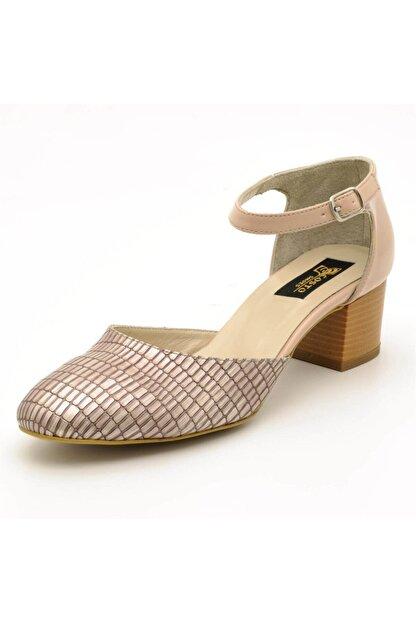 İriadam 9797 Bej Lezar Büyük Numara Bayan Ayakkabıları