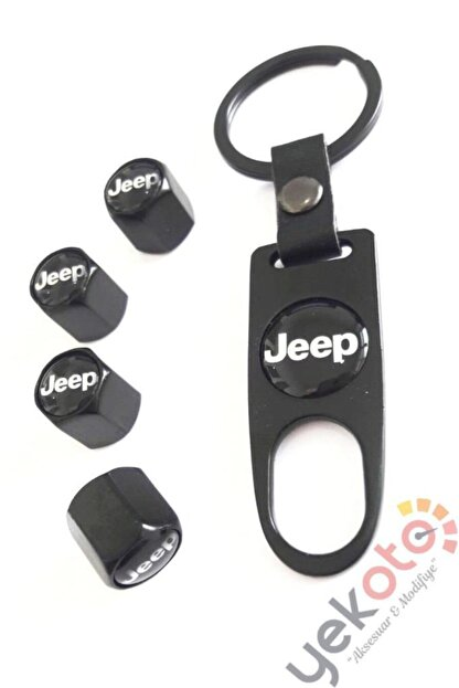 Yekoto Jeep Metal Anahtarlık Ve Sibop Kapak Seti 1.kalite