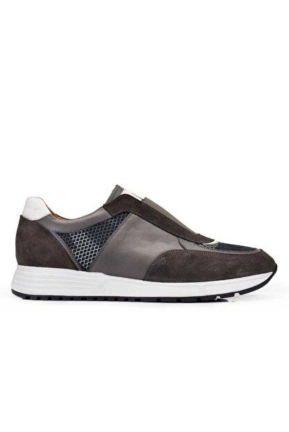 Nevzat Onay Hakiki Deri Haki Günlük Sneaker Erkek Ayakkabı -11374-