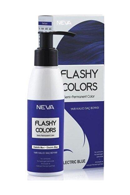 Neva Flashy Colors Yarı Kalıcı Saç Boyası Elektrik Mavi 100 ml 8698636612760