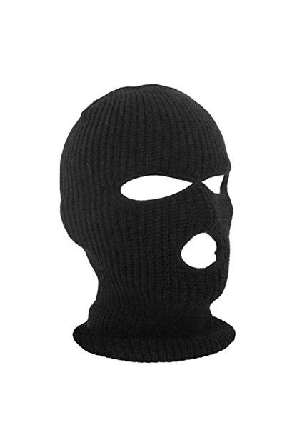 PAKER GİYİM Siyah Kışlık Unisex 3 Gözlü Kar Maskesi