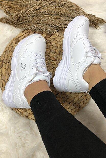 Kinetix Kadın Günlük Spor Beyaz Kadın Yürüyüş Ayakkabısı Suomy