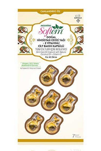 Softem Doğal Hindistan Cevizi Yağı + E Vitaminli Cilt Bakım Kapsülü