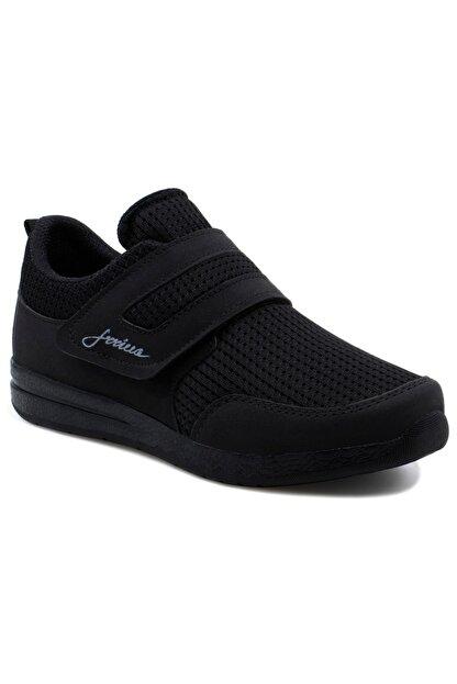 LETAO Bayan Siyah Rahat Hafif Cırtlı Günlük Yürüyüş Spor Ayakkabı